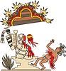 aztekische Beerdigung