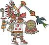 aztekischer Gott Quetzalcoatl