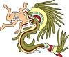 aztekische Gottheit Quetzalcoatl als Schlange