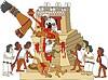 aztekische Opfergabe eines Herz von lebenden Menschen