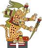 Tepeyollotl - aztekischer Gott der Erdbeben, Echos und Jaguare