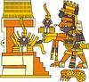 Xiuhtecuhtli - aztekischer Gott des Feuers, Tages und Wärme