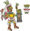 aztekische Gottheit Yauhtecatl