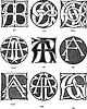 Monogramme AE - AG