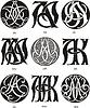 Monogramme AI - AK