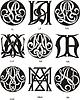 Monogramme AL - AN