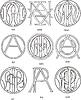 Monogramme AN - AP
