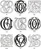 Monogramme CT - CV
