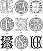 Monogramme EJ - EL