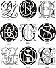 Monogramme GQ - GS