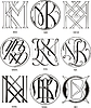 Monogramme KM - KO