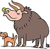 dog and bull