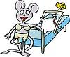 Cartoon mit Maus und Mausefalle