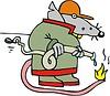 Ratte Feuerwehrmann