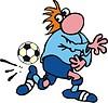 Fußballer Cartoon