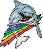 Delphin und Regenbogen
