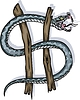 Zeichen von Schlange als Dollar