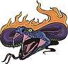 Schlange Flamme