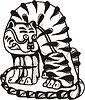 Koreanisches mythische Bild des Tigers