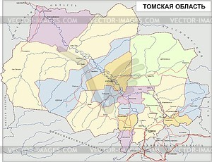 Karte von Oblast Tomsk - Klipart