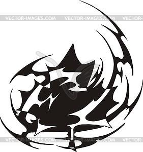 Ahornblatt Flamme - Vektor-Clipart EPS