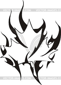 Ahornblatt Flamme - Vector-Clipart / Vektor-Bild