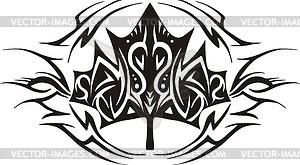 Ahornblatt Flamme - Vektor Clip Art