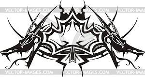 Ahornblatt Flamme - Vector Clip Art