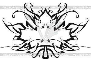 Ahornblatt Flamme - Vektor-Abbildung