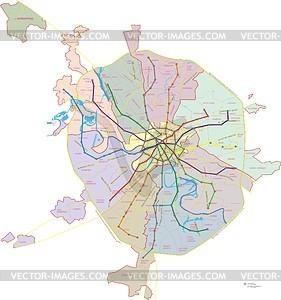 Karte von Moskau - vektorisiertes Bild