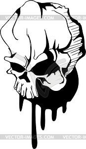 Schädel Tattoo - vektorisiertes Design