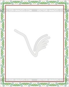 Ornamentaler Rahmen - Vektorgrafik