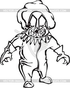 Böses Clown - Vektor-Clipart