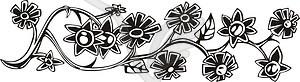 Ornamentales Blumenornament - vektorisiertes Bild