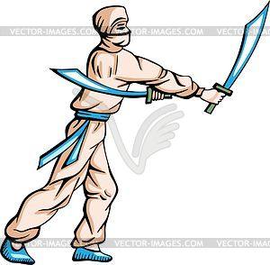 Ninja (Shinobi) - Vektor-Clipart EPS