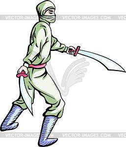 Ninja (Shinobi) - Vector-Clipart EPS