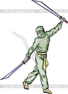 Ninja (Shinobi) - Vector-Clipart / Vektor-Bild