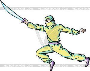 Ninja (Shinobi) - Vector-Clipart / Vektorgrafik