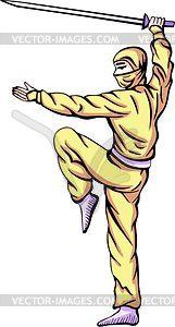 Ninja (Shinobi) - Vektor-Klipart