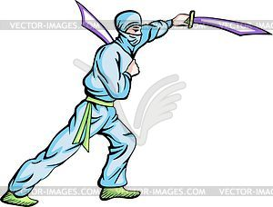 Ninja (Shinobi) - Vektor Clip Art