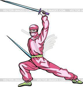 Ninja (Shinobi) - Vektor-Illustration