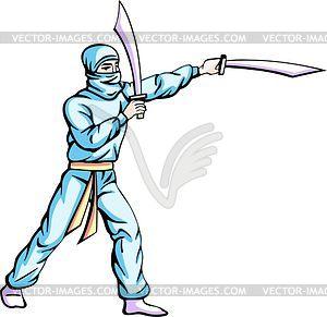 Ninja (Shinobi) - Vektorgrafik-Design