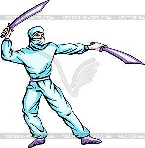 Ninja (Shinobi) - Vektorabbildung