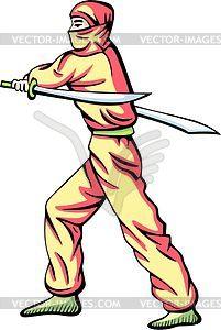 Ninja (Shinobi) - Stock Vektorgrafik