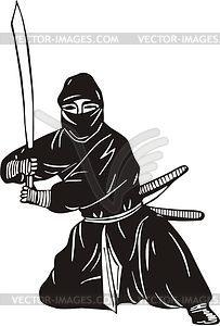 Ninja - Vector-Clipart / Vektorgrafik
