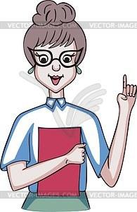 Школьная учительница - векторный клипарт