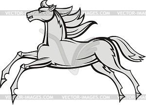 Laufendes Pferd - Vektorgrafik