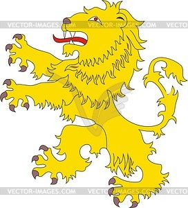 Heraldic lion - vector image