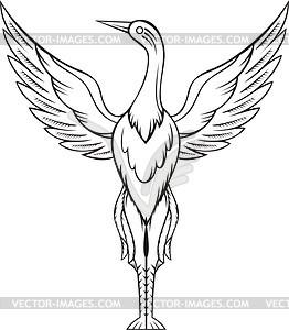 Storch - Vector-Illustration