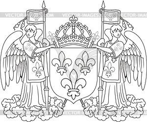 Großes königliche Wappen von Frankreich - Vektorgrafik